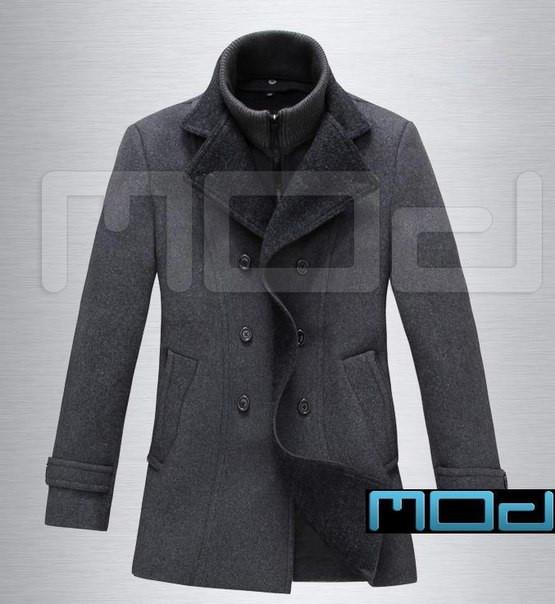Качественное пальто с воротником