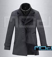 Качественное пальто с воротником, фото 1