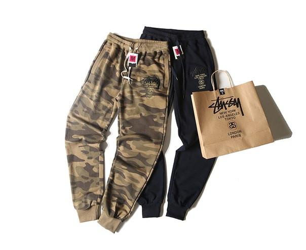 Хлопковый штаны Stussy на резинке