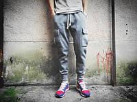 Хлопковый штаны с карманами на резинке, фото 1