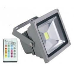 Цветной прожектор светодиодный RGB LED 10w LEMANSO