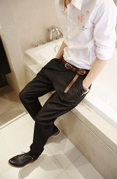 Мужские узкие брюки