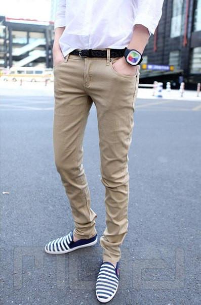Мужские бежевые джинсы