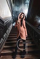 Женское пальто Х-Woyz с капюшоном персик, фото 1