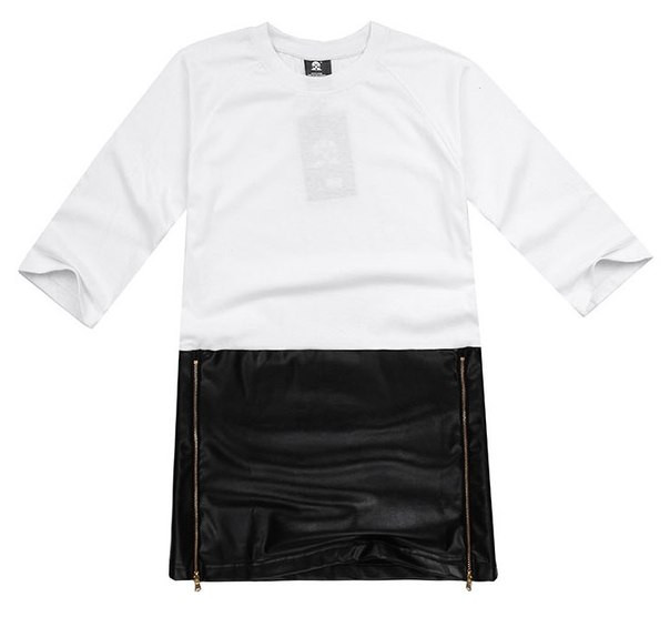 Длинная футболка с замками