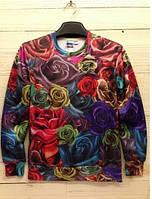 Свитшот Цветные розы