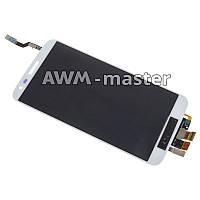 Дисплей LG D800,D805,D808,E940,F320 с сенсором на рамке. белый Оригинал