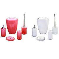 Набор акриловых аксессуаров для ванной 5 предметов