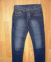 Подростковые осенние темно-синие джинсы  для мальчиков 22-26р. (128,134,140р.)