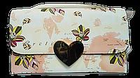 Клатч женский с цветами прямоугольный
