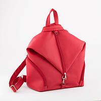 Женский рюкзак ( для девочки ) подростковый, модный мини рюкзак, красный