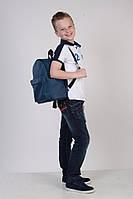 Детский рюкзак унисекс, синий / городской рюкзак, модный, эко кожа