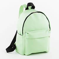 Рюкзак городской женский, фисташковый / рюкзак, модный, эко кожа