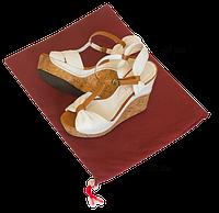 Мешок-пыльник для обуви с затяжкой Бордовый