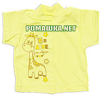 Детская кофточка р. 62 с коротким рукавом ткань КУЛИР 100% тонкий хлопок ТМ Алекс 3174 Желтый