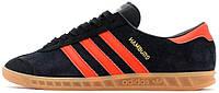 Мужские кроссовки Adidas Originals Hamburg Black/Red, адидас