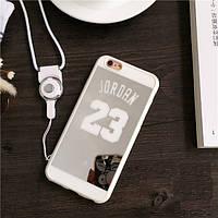 Зеркальный чехол Jordan 23 для iPhone 5/6/6+