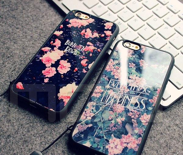 Чехол с цветами для iPhone 5/5s, 6/6plus