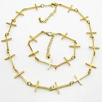 Цепочка с крестиками и браслетом (набор), фото 1