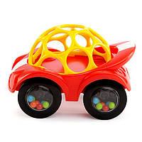 Развивающая машинка красно-желтая, Oball, Bright Starts, Красно-Желтая (81510-1)