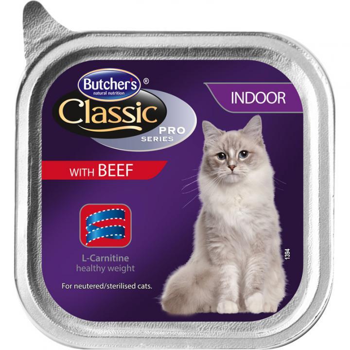Butcher`s (Бутчерс) Cat Classic Pro паштет для кошек, говядина, 100 г.