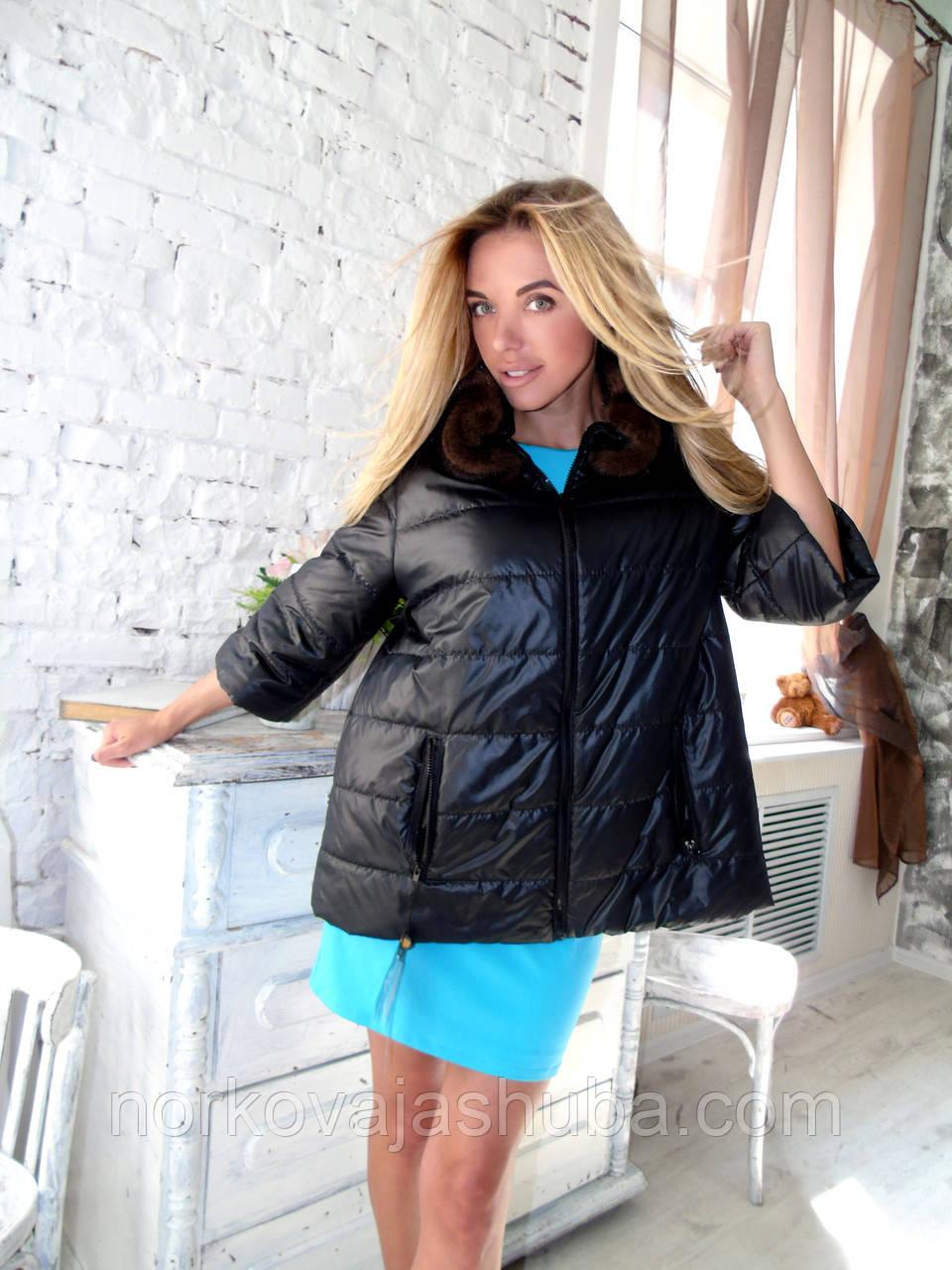 f740b555dfe6 Купить куртку женская воротник отстегивается норка 46 48 - Интернет-магазин  FUR STAR в Харькове