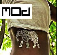 Временное тату слон