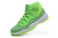 Женские баскетбольные кроссовки Air Jordan Retro 11 (Neon Green)