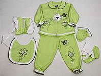 Комплект детский из трикотажа (6 предметов) для малышей р. 80    арт. -14- Турция