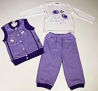 Комплект детский из трикотажа (3 предмета) для малышей р. 62-110   арт. 111158, Турция