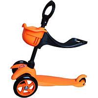 Самокат Mars Kids 3-х колесный 3 в 1 SKL 06-100B оранжевый (SKL 06-100B оранж)