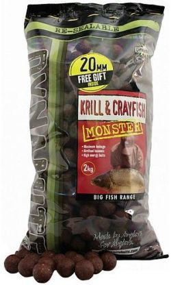 Бойлы тонущие DYNAMITE BAITS Monster Krill & Crayfish 20mm