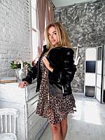 Женская куртка авто леди каракуль норка 44 46 размера полушубок
