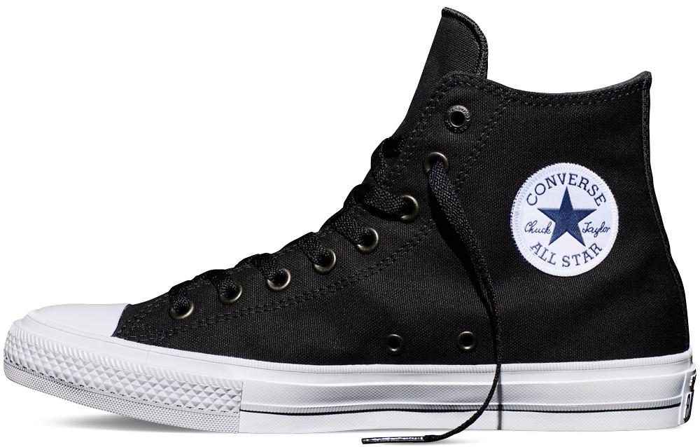 Мужские кеды Converse Chuck Taylor All Stars II High Black Оригинал, Конверс Ол Стар