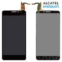 Дисплейный модуль (дисплей + сенсор) для Alcatel One Touch 6040D Idol X, черный, оригинал