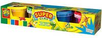 Незасыхающая масса для лепки -  КЛАССИК NEW (4 цвета, в пластиковых баночках) (0465S)