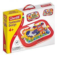 Набор для занятий мозаикой (10-15-20 мм фишки (300 шт.) +  доска 28х20, переносной) (0900-Q)