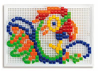 Набор для занятий мозаикой (квадр. и треуг. фишки (300 шт.) +  доска 28х20, переносной) (0954-Q)