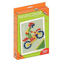 Набор для занятий мозаикой (10 мм фишки (100 шт.) + доска  22х16) (2122-Q)