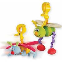 Игрушка-подвеска на прищепке - ЖУЖУ (в ассорт. дрожащие дрожащие бабочка и пчёлка) (10555)