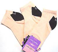 Яркие заниженные женские носки в коты персиковые