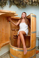 Фитобочка, деревянная бочка, бочка для паровых фито процедур, бочка для спа салона