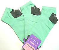 Носки цветные с рисунком коты мятные женские