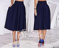 Женская юбка-колокол длина миди