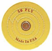 Круг муслиновый d-150 мм, 50 слоев, жолтый (средней твёрдости)