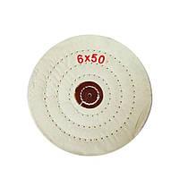 Круг муслиновый d-150 мм, 50 слоев,белый,(мягкий)