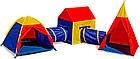 Детские игровые палатки 5 in 1 с тоннелем для детей домик вигвам палатка, фото 2