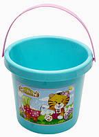 Ведро детское  пластик 12см с рисунком 39017 (Украина)