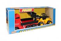 Автомобиль бортовой + трактор-погрузчик (в коробке) (36865)