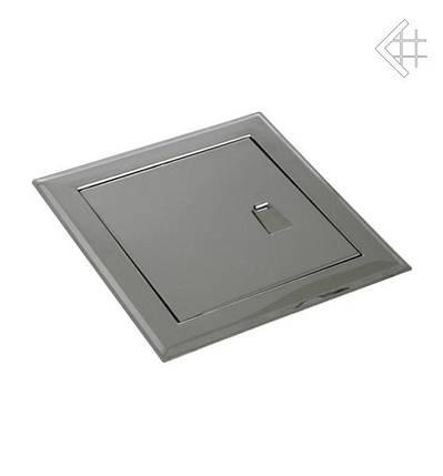 Дверца ревизионная 15х15 см серебряная с ручкой , фото 2